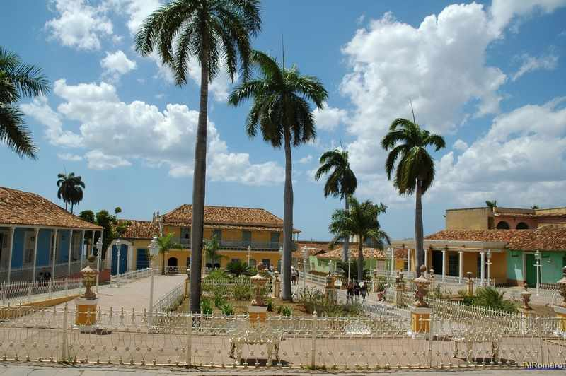 Plaza Mayor ciudad colonial de Trinidad, Cuba